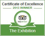 2013 Certificate of Excellance from TripAdvisor