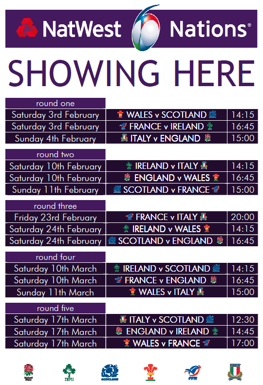 Six nations rugby the exhibition godmanchester for League table 6 nations