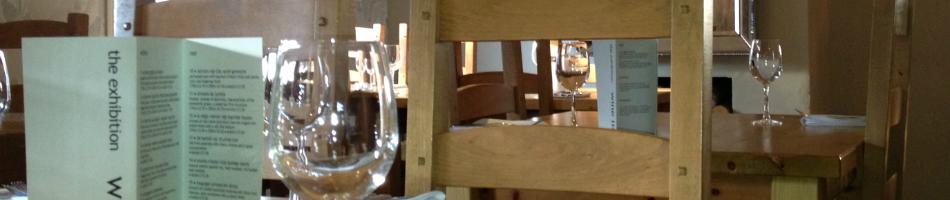 The Exhibition Bar & Restaurant, Godmanchester, Huntingdon, Cambridgeshire. table