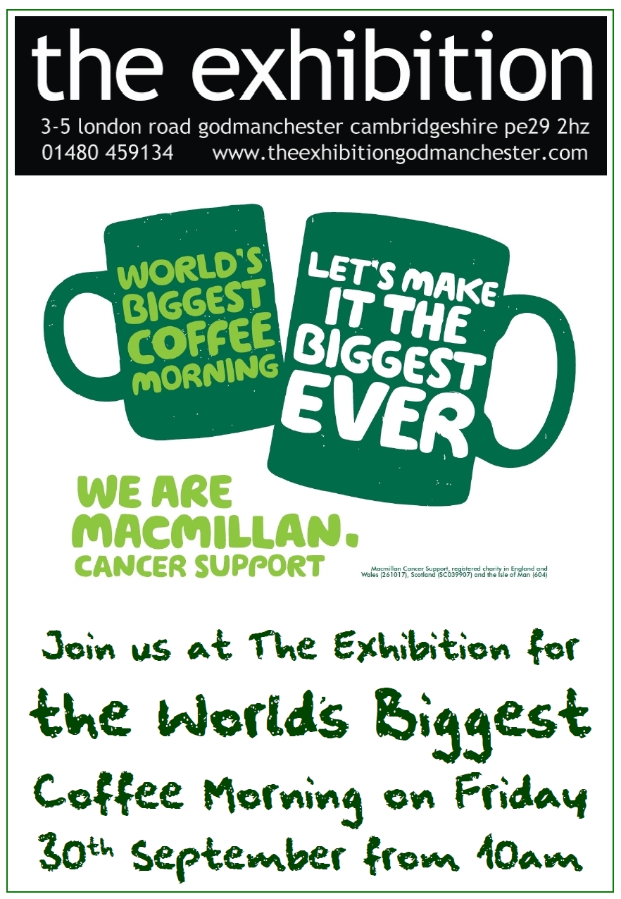 Coffee Morning For Macmillan At The Exhibition