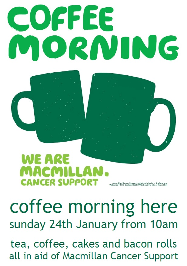 Macmillan Coffee Morning The Exhibition Godmanchester